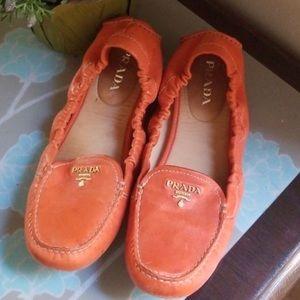 Prada Scrunch loafers